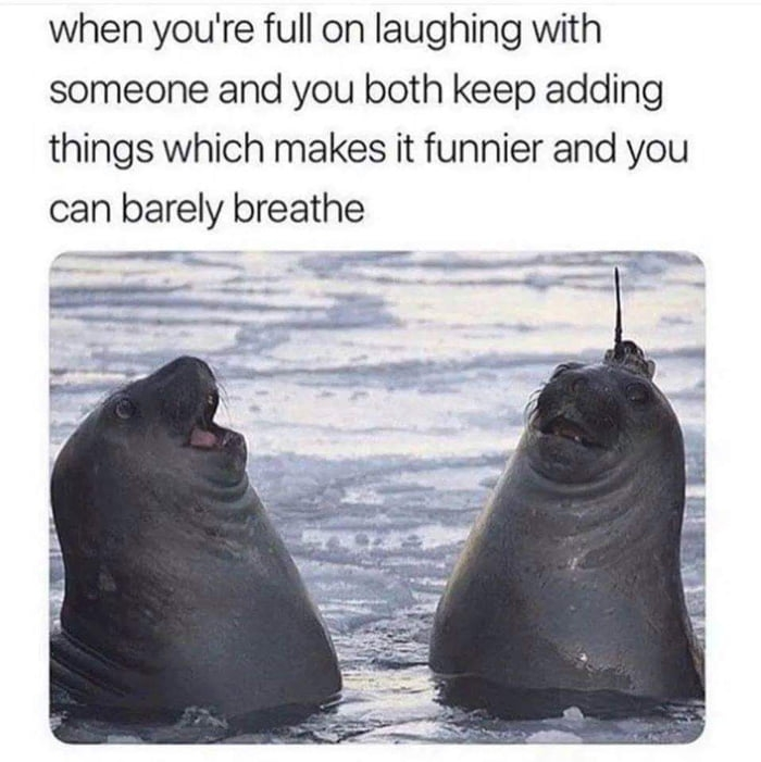 When you're full on laughing