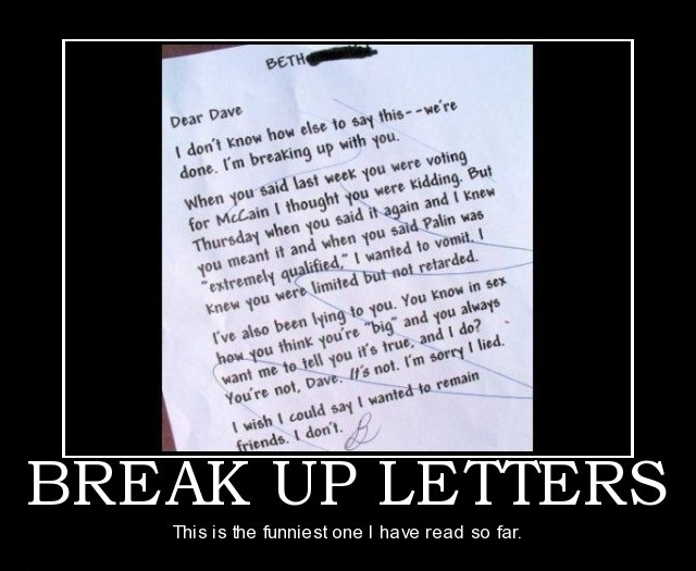 how to break up with someone you love letter
