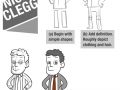 How to draw Nick Clegg