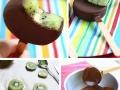 Chocolate Kiwi Popsicles