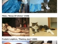 Cats imitating art