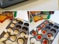 Pizza cupcakes