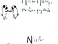 Cute Pug Alphabets