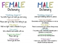 Female & Male dictionary