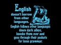 English doesn't borrow!
