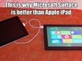Microsoft Surface owns iPad