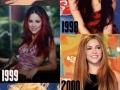 Shakira through the years