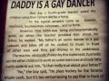 Daddy is a gay dancer