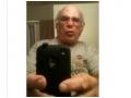 Grandpa's new iPhone