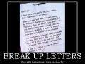Break-up Letters