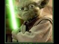 Yoda & his lightsaber