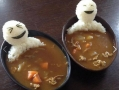 Edible men in curry soup