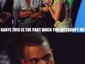 Kanye is not amused