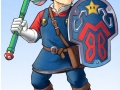 Mario with Link's weapons