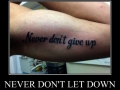 Give up don't never