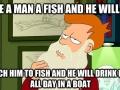 Philosophy Fry on fishing