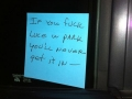 Epic windshield note!