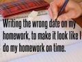 Doing homework late