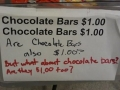 What about chocolate bars?