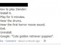 How to play Slender