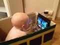 Box train with iPad