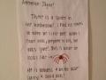 Sign outside the bathroom