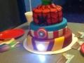 Homemade Avengers Cake