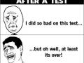 After a test
