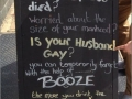 Booze helps!