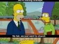 Simpson visiting grandpa