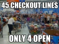Shopping in big stores