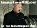 Kim wants Korean Unification