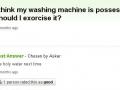 Possessed washing machine
