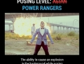 Posing lvl: Power Rangers