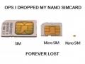 Dropped my nano sim card