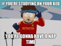 Studying on your bed