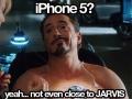 Tony Stark on iPhone 5