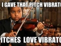 Pitches love vibrato