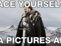 Lord Stark gives a warning