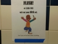 Make sure you flush!