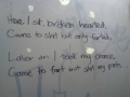 Beautiful poetry in the toilet