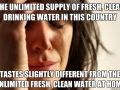 1st World Water Problems