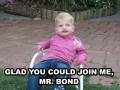 3 year old Bond villain