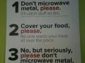 Microwaving your food