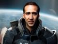 Cage as Commander Shepard