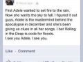 He sees you Adele