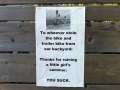 A note to the bike thief