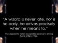 A wizard is never late..