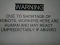 Shortage of robots