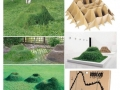 A grass chair